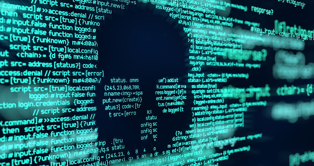 Hacking and Virus Attack Computer Code Background